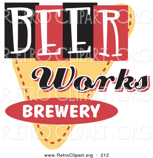Of a vintage works. Beer clipart retro