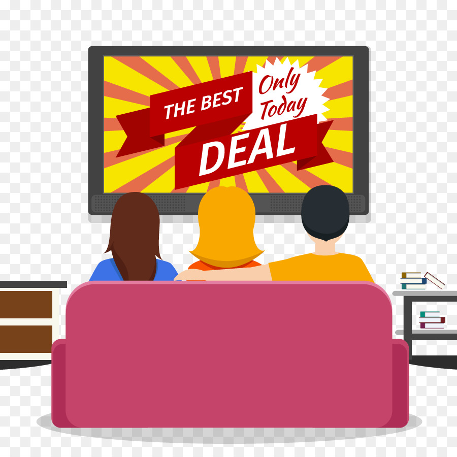 Cartoon background . Advertising clipart television advertising