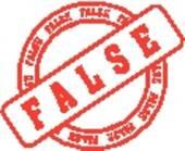 False collection clip art. Advertising clipart word
