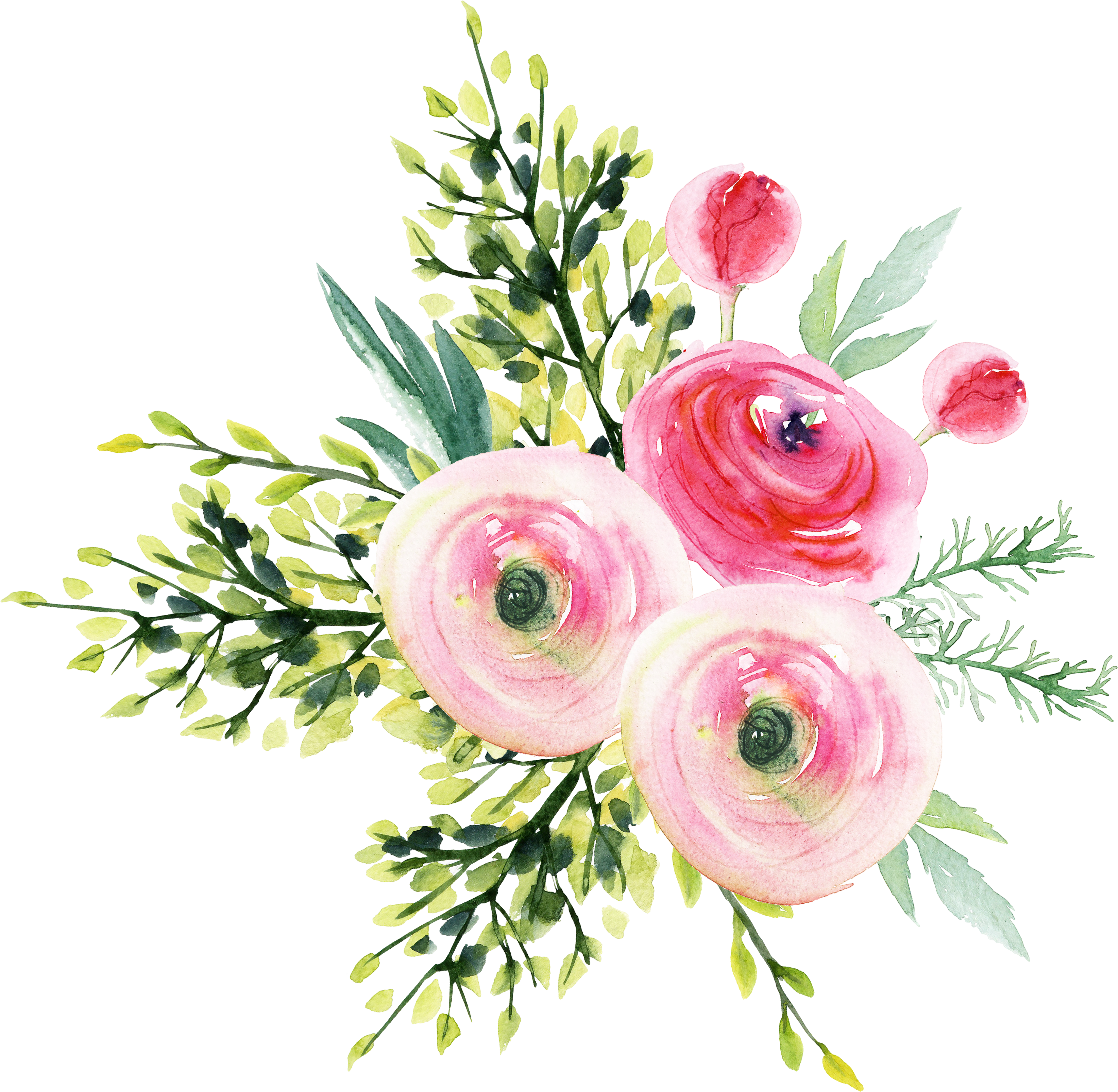 Garden roses bouquet refined. Aesthetic flower png
