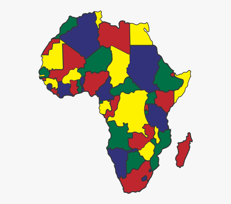 Free clip art map. Africa clipart