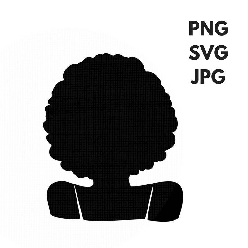 Africa clipart afro. Svg silhouette clip art