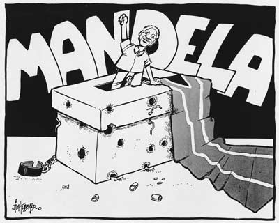 Africa clipart apartheid. Nelson mandela s election