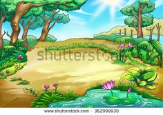 Vector cartoon game of. Africa clipart background