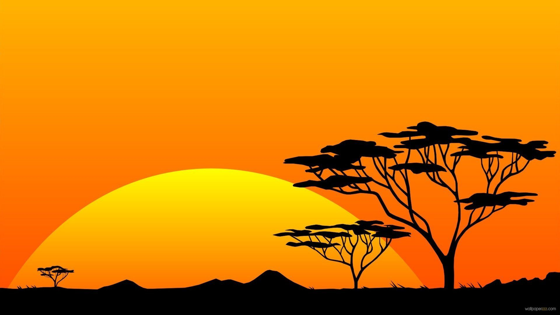 Sunset clipart sunset africa. African landscape wallpapers group