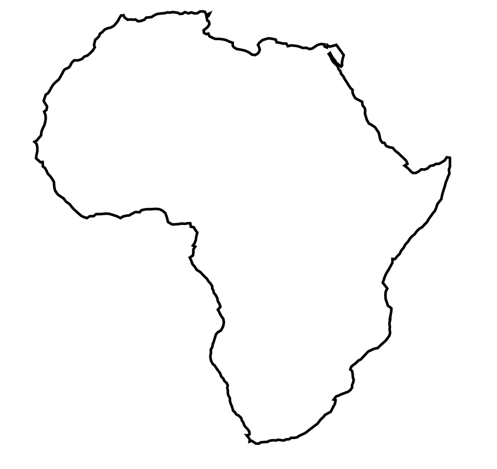 Africa clip art library. African clipart black and white
