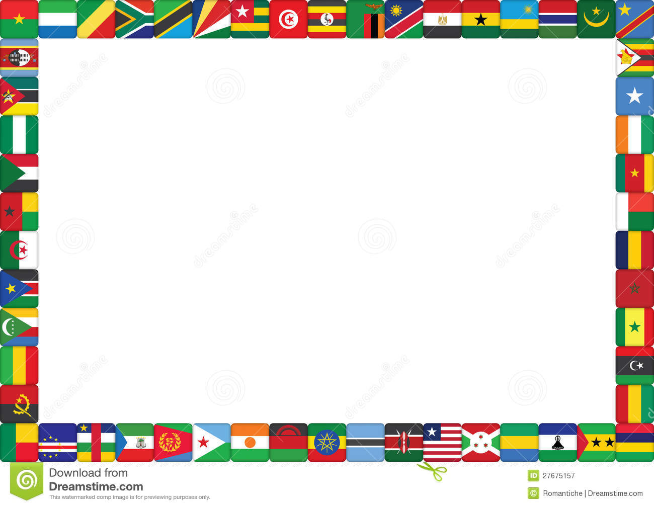 collection of united. Africa clipart border