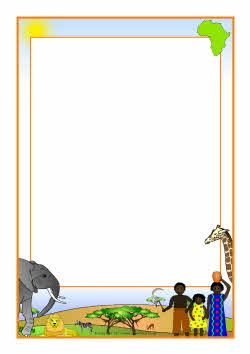 African savanna a page. Africa clipart border