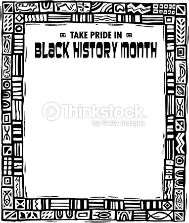 Black history month peachy. African clipart border