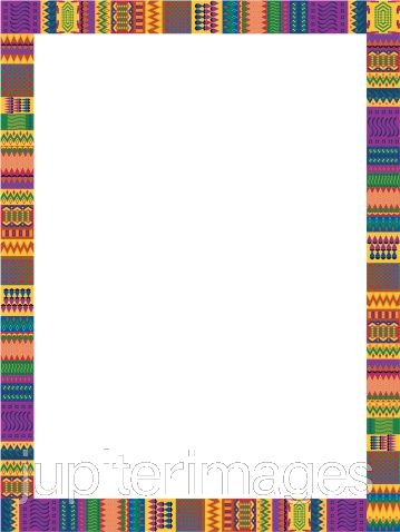 American powerpoint themed trim. African clipart boarder