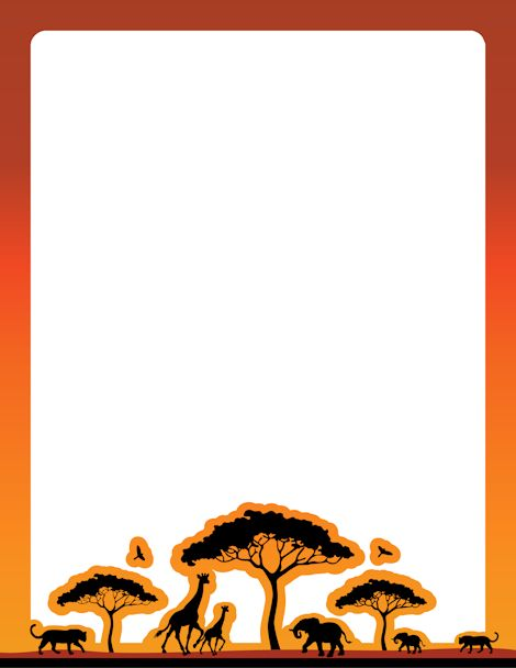 Free africa border cliparts. African clipart boarder