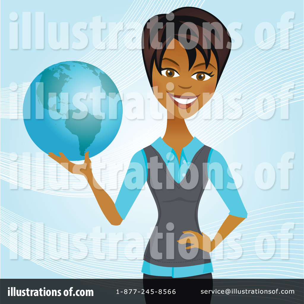Africa clipart businesswoman. Illustration by amanda kate