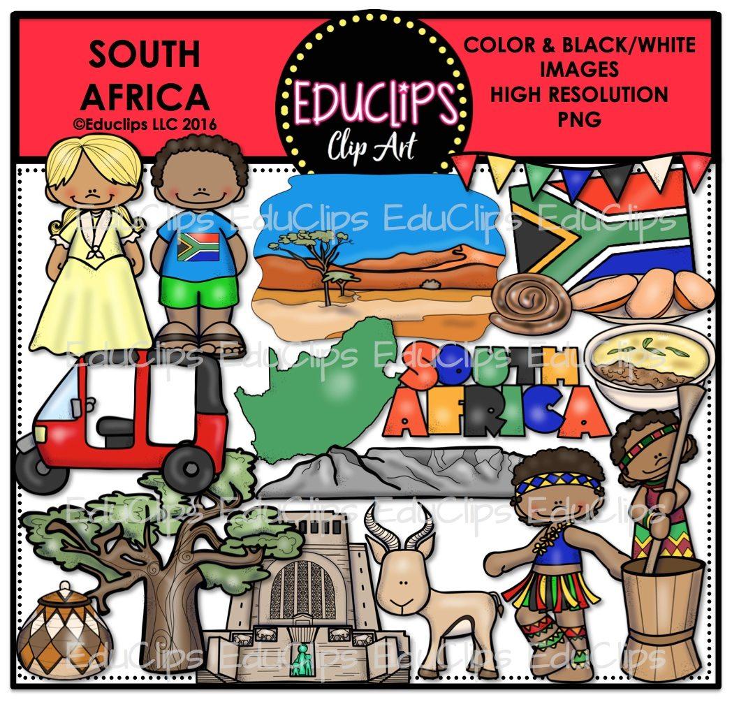 South africa bundle color. African clipart clip art