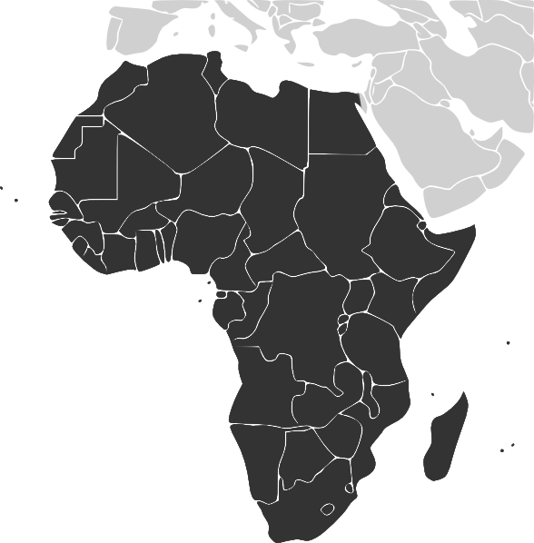 Africa clip art at. Clipart map continent