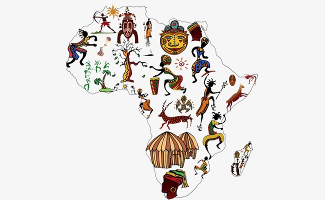 Africa clipart creative. Map of flat png