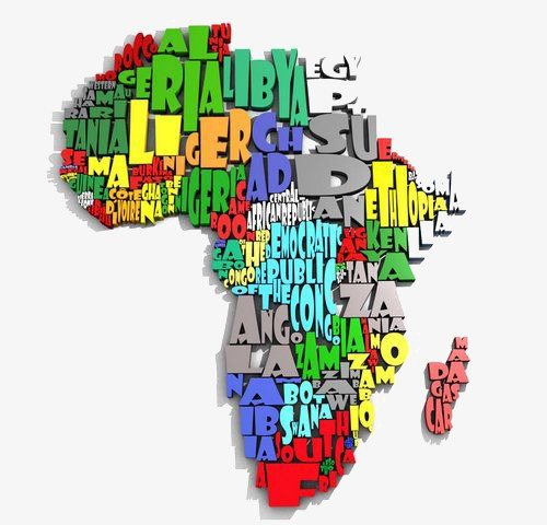 Map free button elements. Africa clipart creative