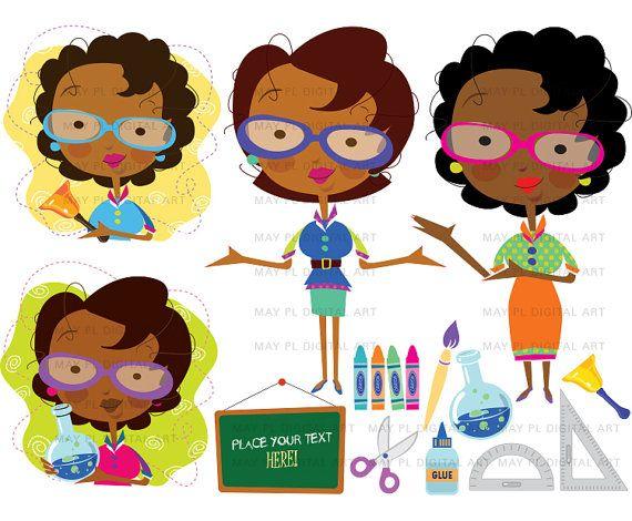 Teacher classroom clip art. Africa clipart creative