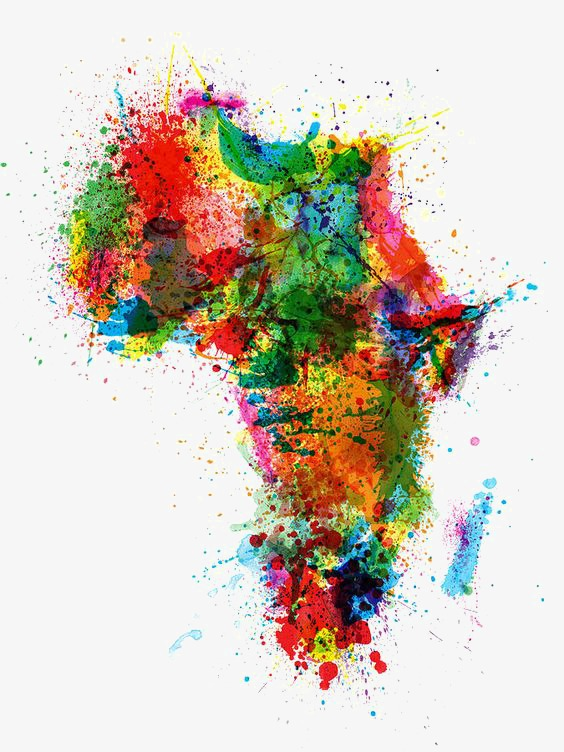 Africa clipart creative. Map of ink jet