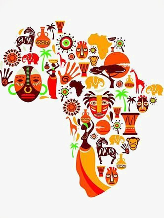 African clipart culture african. Map of africa plate