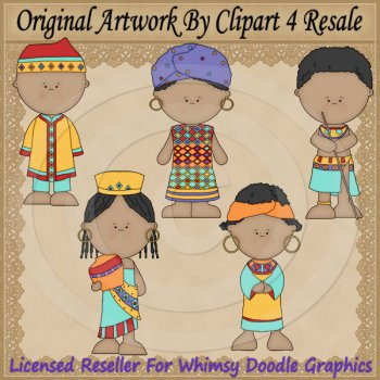 Exclusive kids by resale. African clipart culture african