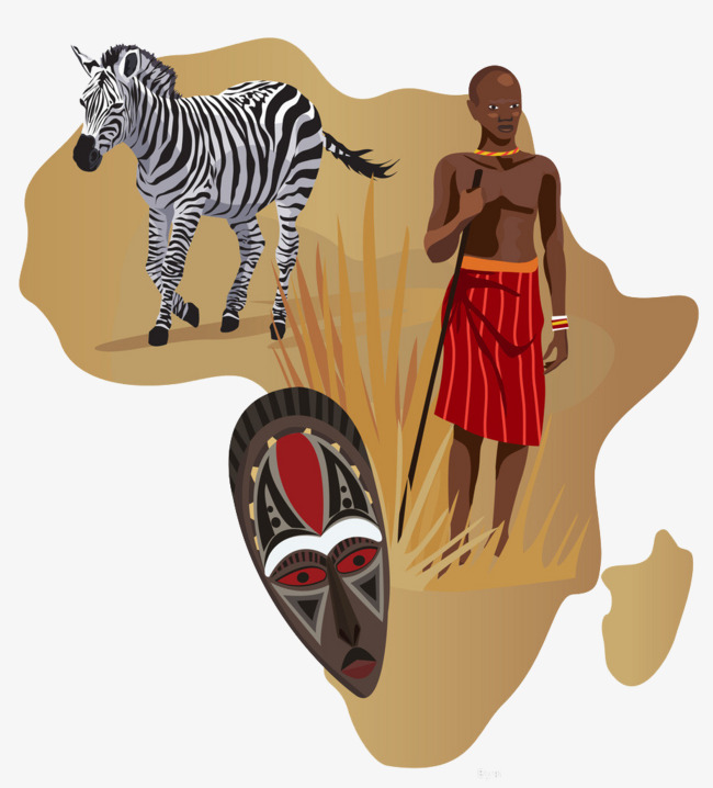 Decoration original illustration png. African clipart culture african