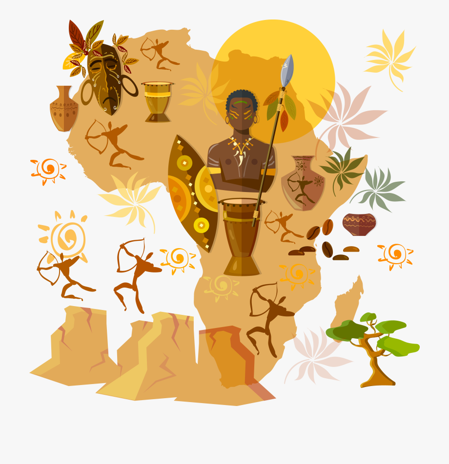 African clipart culture african. Africa tribe illustration