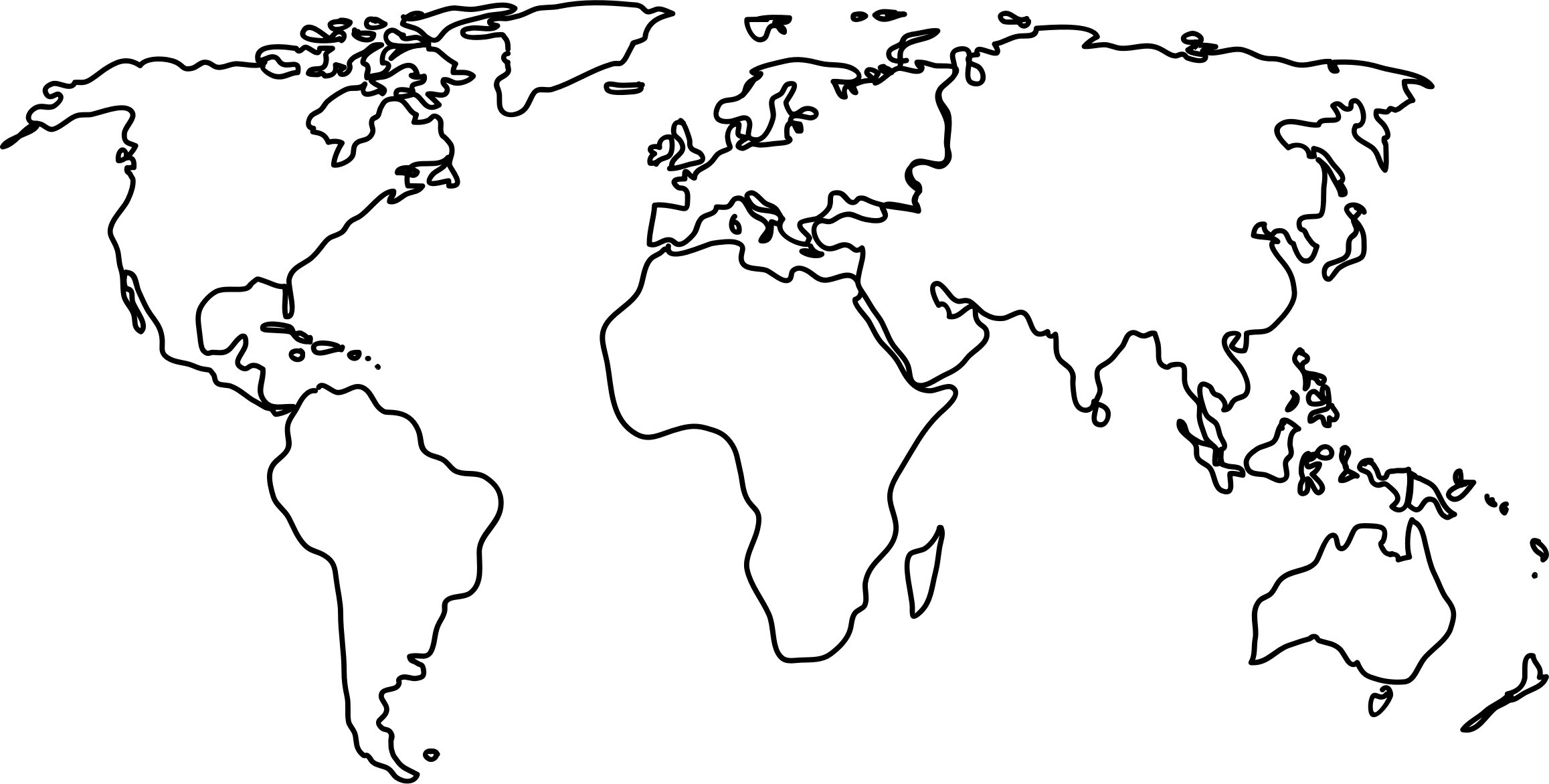 World map outline to. African clipart easy