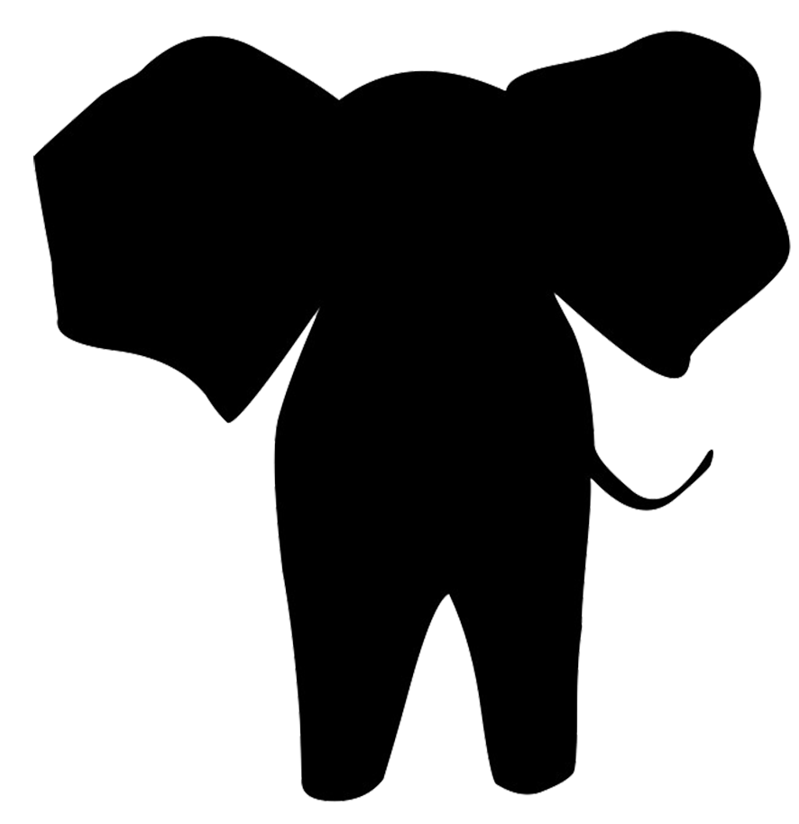 Pirate clipart silhouette. Elephant at getdrawings com