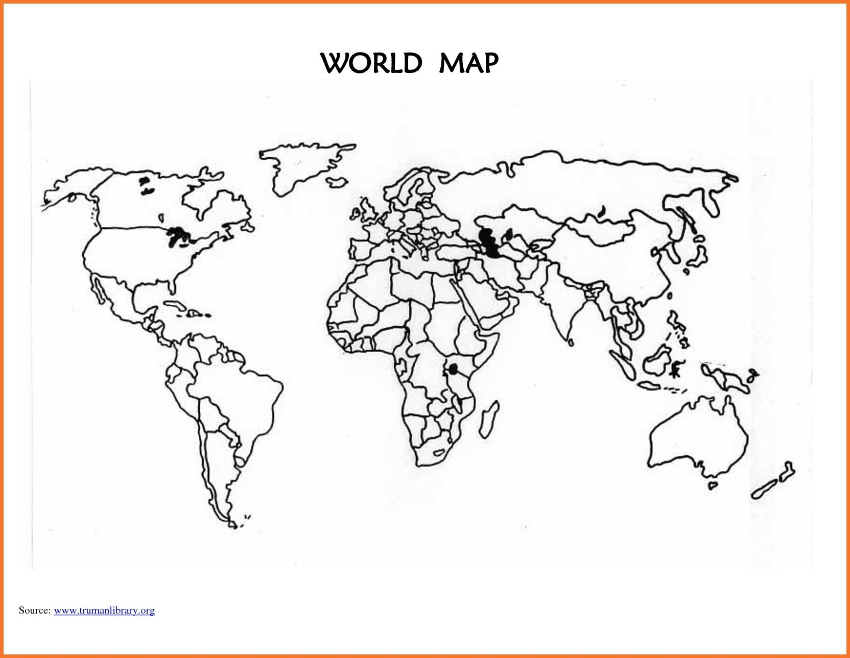 African clipart easy. World map outline to