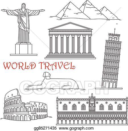 Vector stock travel of. Greece clipart landmarks