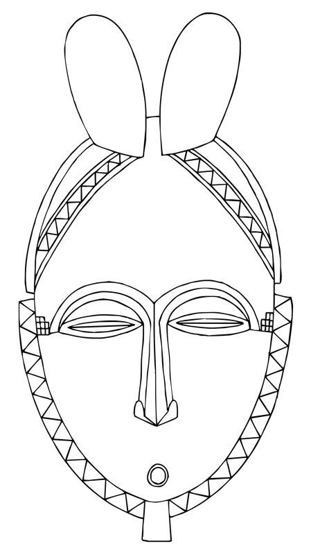 Africa clipart line drawing. Afro clip art this