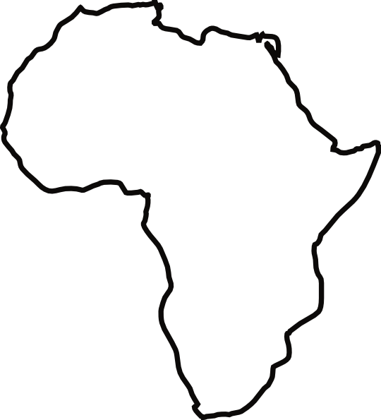 Land clipart kid. Africa map silhouette at