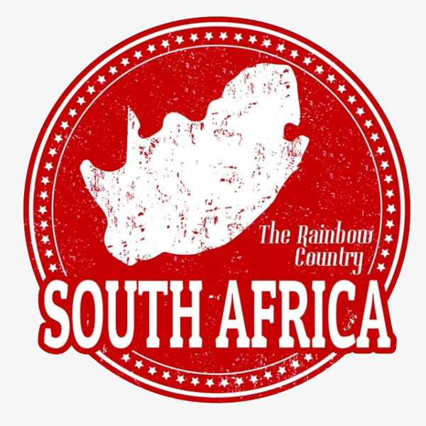 Red south map gules. Africa clipart logo