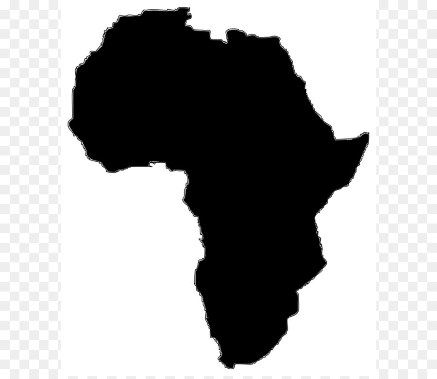 African clipart transparent. Africa map silhouette at