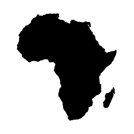 Silhouettes of continents z. Africa clipart map african