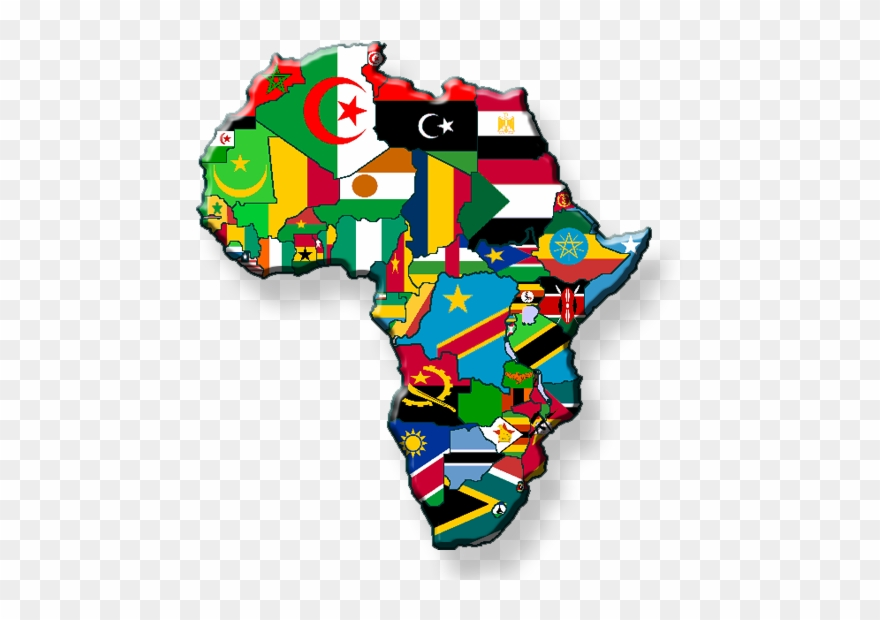Africa clipart map african. Countries flags cool of