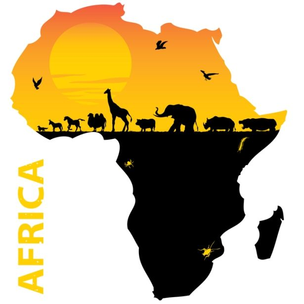 Africa clipart nation. Map of the continent