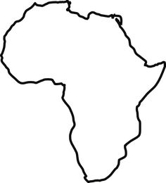 African clipart black and white. Africa pattern use the