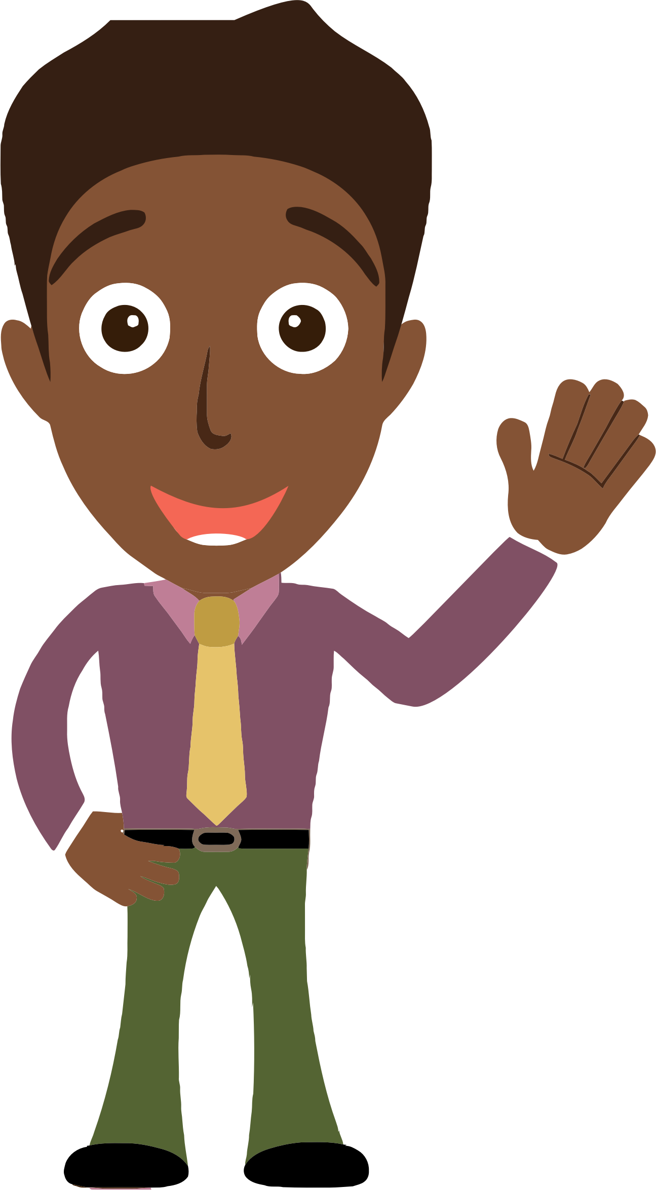 Person clipart man. African says hello big