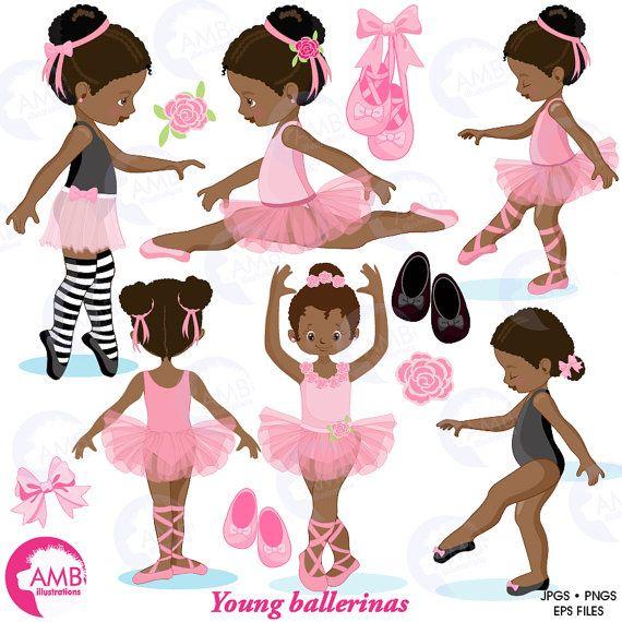 Ballet pink dark skin. Ballerina clipart african american ballerina