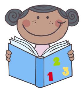 Free preschool image book. Textbook clipart reading math