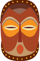 African clipart african mask. Free africa clip art