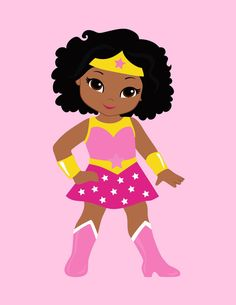Girls superhero clip art. America clipart female
