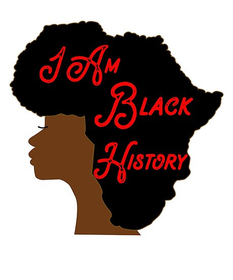 I am month africa. Afro clipart black history