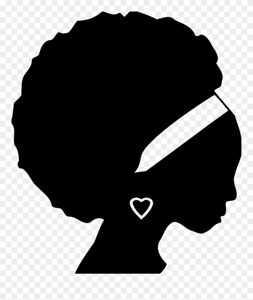 African americans black woman. Africa clipart silhouette