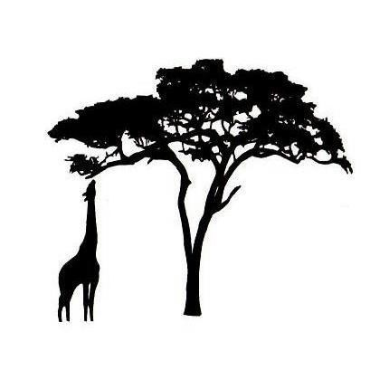 African clipart simple. Trees silhouette at getdrawings