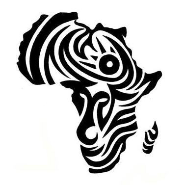 African clipart tribal. Awesome black africa map