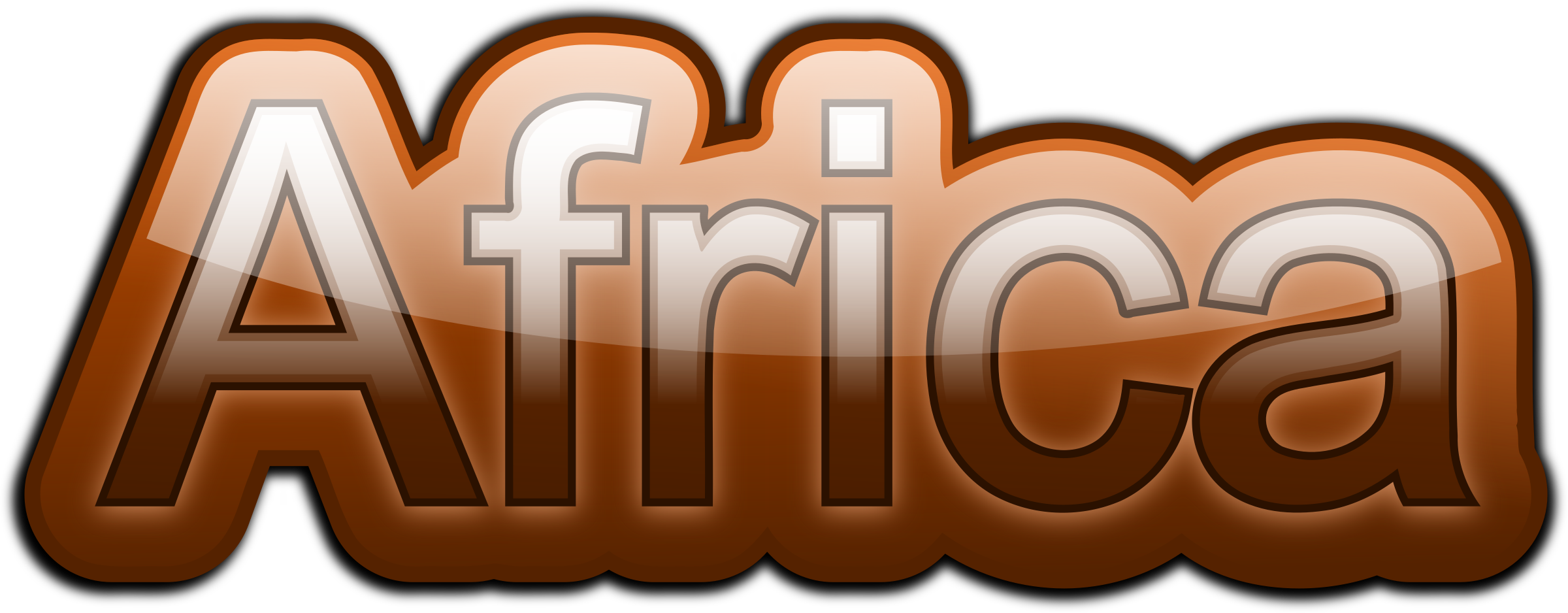 Africa text big image. African clipart word