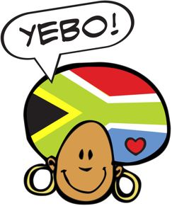 Quirky south africa part. African clipart word
