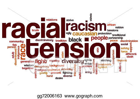 African clipart word. Stock illustration racial tension